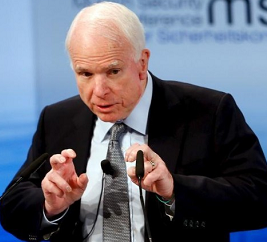Donald Trump team unable to 'separate truth from lies', Republican Senator John McCain tells Europe
