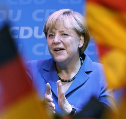 German Chancellor Angela Merkel's conservative party wins big in state polls as election year begins