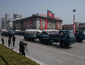North Korean missile 'blows up' on test launch