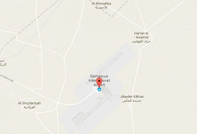 Large blast and fire at Damascus airport