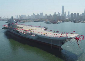 Eyeing West Pacific, China launches first domestically-made aircraft carrier
