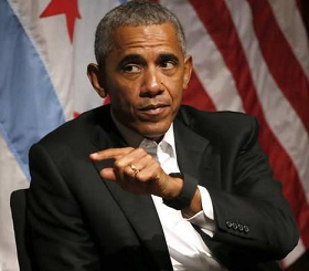 Obama dishes out leadership advice at 1st event since leaving office