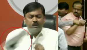 Shoe thrown at BJP's GVL