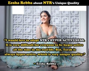 Exclusive: No one can match NTR's unique quality – Eesha Rebba