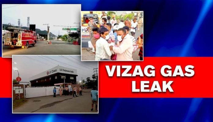 A toxic gas leakage at Vizag chemical plant kills eight individuals