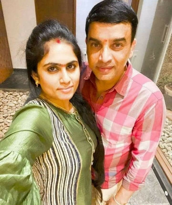 Selfie: Newly Wed Dil Raju With His Wife Vygha Reddy
