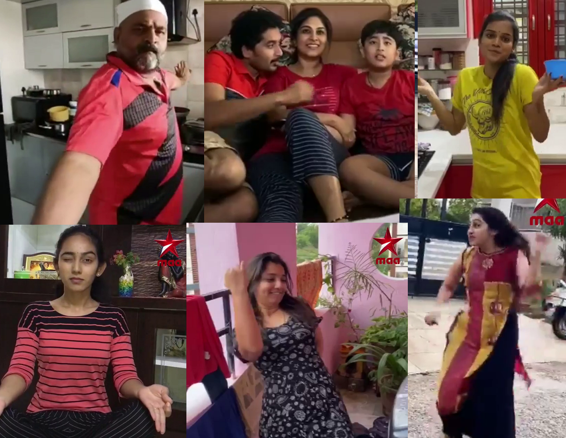TV stars came together to show some cool Dance moves at their homes
