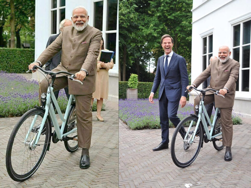 Pic Talk: Modi Campaigns For Cycle On This Day