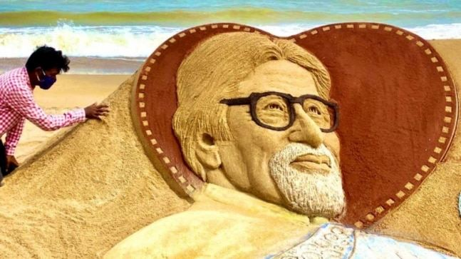 Sudarsan's sand art to celebrate Big B's recovery wins hearts!