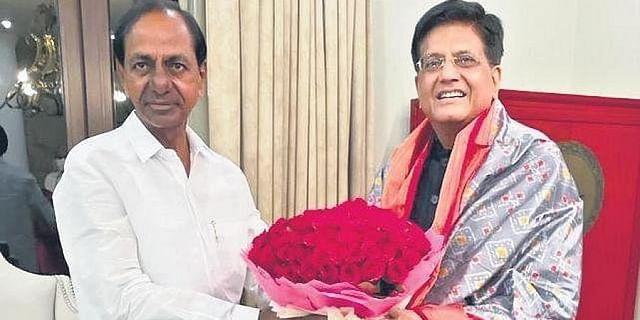 Piyush Goyal makes no promises to Telangana CM KCR