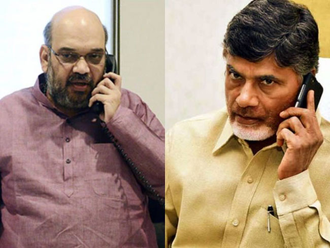 Chandrababu Receives A Call From Amit Shah