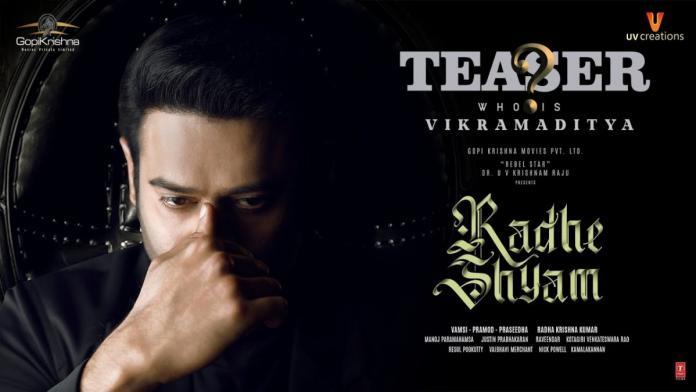 Radhe Shyam Teaser: Prabhas as Palmist Vikramaditya