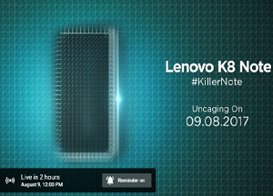 Lenovo K8 Note launch live stream: How to watch new Android phone unveiling
