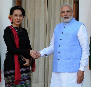 Modi Meets Suu Kyi, Discusses India-Myanmar Relations